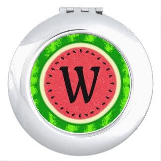 Wassermelone-Scheibe-Sommer-Frucht mit Taschenspiegel