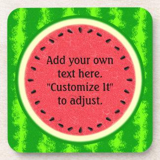 Wassermelone-Scheibe-Sommer-Frucht personalisiert Getränkeuntersetzer