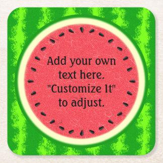 Wassermelone-Scheibe-Sommer-Frucht personalisiert Rechteckiger Pappuntersetzer
