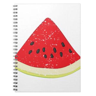 Wassermelone-Scheibe Spiral Notizblock