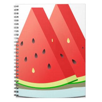 Wassermelone-Scheiben Spiral Notizblock