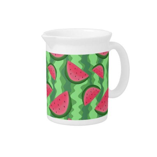 Wassermelone schneidet Muster Krüge