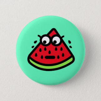 Wassermelone-Schweiß Runder Button 5,1 Cm