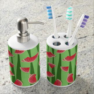 Wassermelone Seifenspender & Zahnbürstenhalter