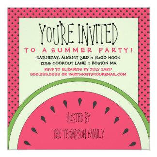 Wassermelone-Sommer-Party Einladung