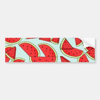 Wassermelone-Sommerzeit Autoaufkleber