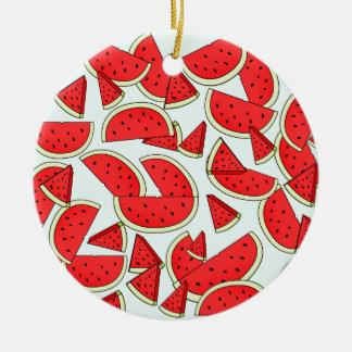 Wassermelone-Sommerzeit Keramik Ornament