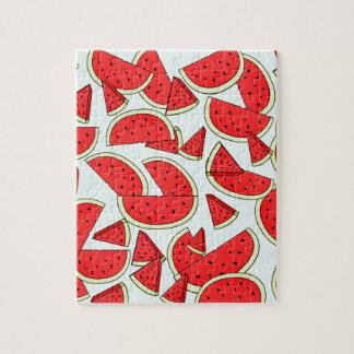 Wassermelone-Sommerzeit Puzzle