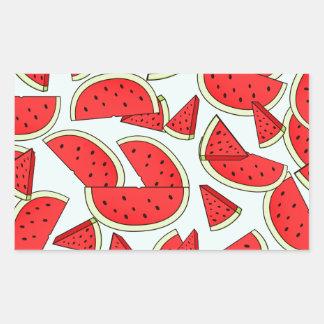 Wassermelone-Sommerzeit Rechteckiger Aufkleber