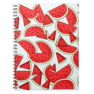 Wassermelone-Sommerzeit Spiral Notizblock