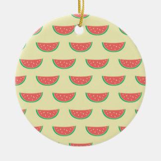 Wassermelone-Sommerzeitmuster Keramik Ornament
