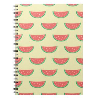 Wassermelone-Sommerzeitmuster Spiral Notizblock
