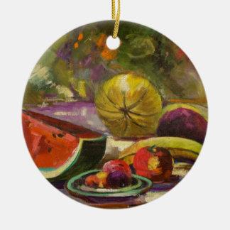 Wassermelone-Stillleben Keramik Ornament