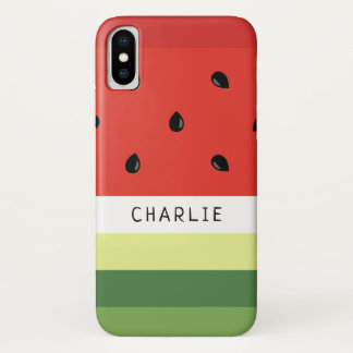Wassermelone Stripes Nametelefon-Hüllen iPhone X Hülle