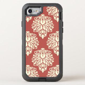 Wassermelone-südlicher Hütten-Damast OtterBox Defender iPhone 8/7 Hülle