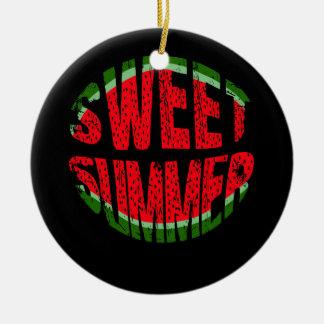 Wassermelone - süßer Sommer Keramik Ornament