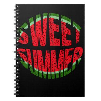 Wassermelone - süßer Sommer Spiral Notizblock