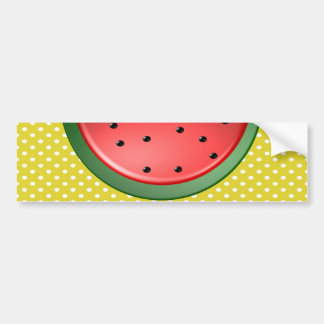 Wassermelone und Polks Punkte Autoaufkleber