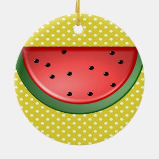 Wassermelone und Polks Punkte Keramik Ornament