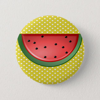 Wassermelone und Polks Punkte Runder Button 5,7 Cm