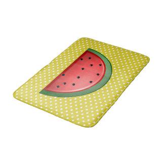 Wassermelone und Tupfen Badematte