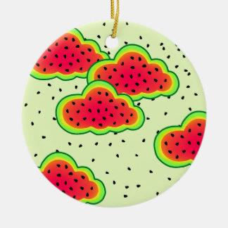 Wassermelone-Wolken-Entwurf Keramik Ornament