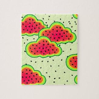 Wassermelone-Wolken-Entwurf Puzzle