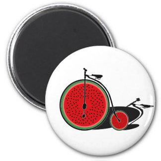 Wassermelonefahrrad Runder Magnet 5,7 Cm