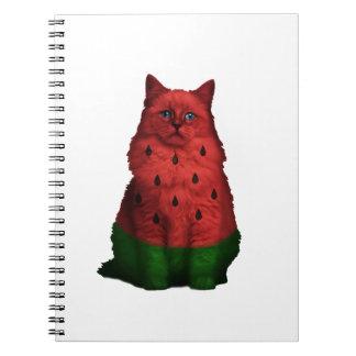 Wassermelonekatze Notizblock