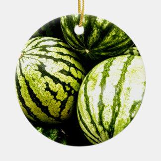 Wassermelonen Keramik Ornament
