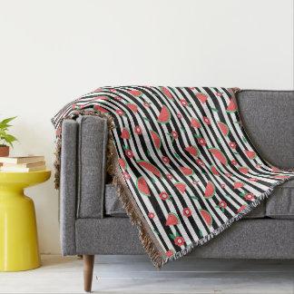 Wassermelonen und Streifen Decke