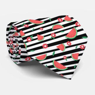 Wassermelonen und Streifen Krawatte