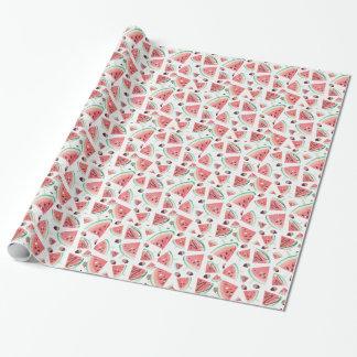 Wassermelonepopsicles, -erdbeeren und -schokolade geschenkpapier
