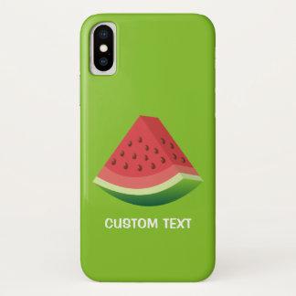 Wassermelonescheibe iPhone X Hülle