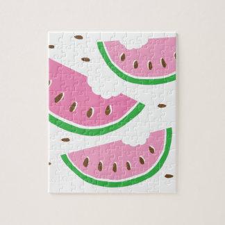Wassermelonescheiben Puzzle