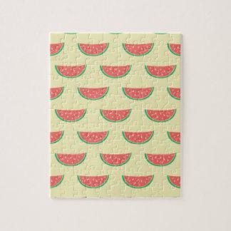 Wassermelonesommermuster Puzzle