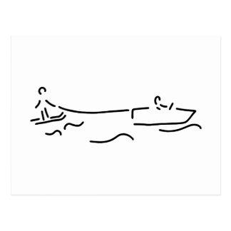 wasserski boot waterski postkarte