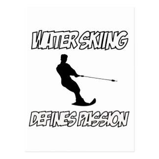 WASSERSKI-Entwürfe Postkarte