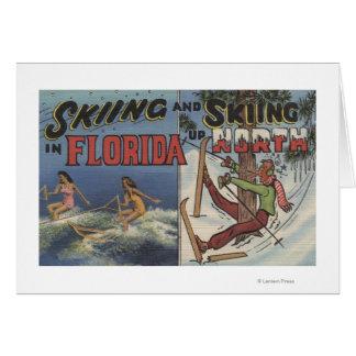 Wasserski in Florida gegen den Schnee, der herauf Karte