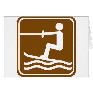 Wasserski-Landstraßen-Zeichen Karte