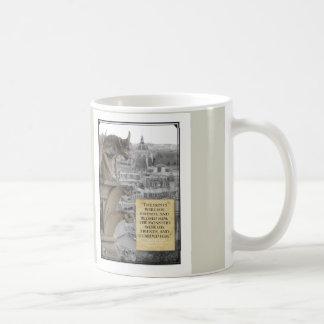 Wasserspeier von mit Zitat Buckligem von Notre Kaffeetasse