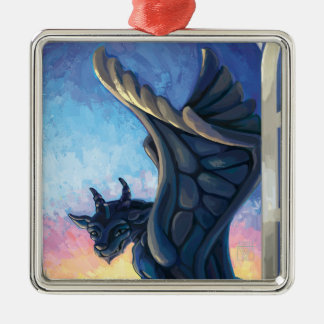 Wasserspeier-Wächter Silbernes Ornament