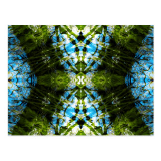 Wasserspitze - Blau und Grün Postkarte