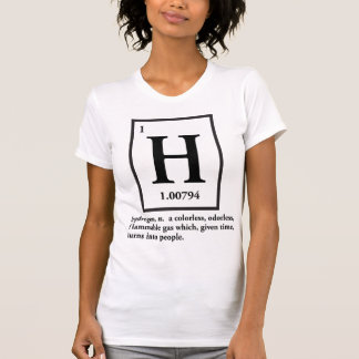 Wasserstoff - ein Gas, das zu Leute macht Hemd
