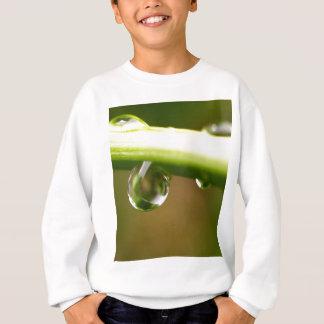 Wassertropfen auf Blätter Sweatshirt