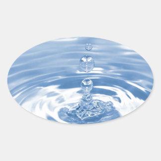 Wassertropfen Ovaler Aufkleber