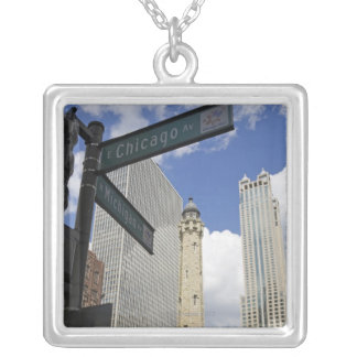 Wasserturm, Chicago, Illinois, USA Versilberte Kette