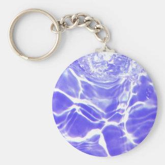 Wasserwellen lässt Kristall - klare feine Glasflie Schlüsselanhänger