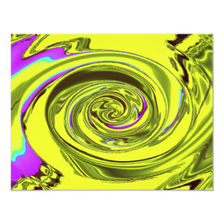 Wasserwellen-Xavier-Gelb 10,8 X 14 Cm Einladungskarte