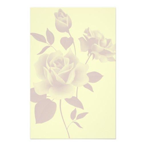 wasserzeichen rosen papierbriefpapier bedrucktes papier. Black Bedroom Furniture Sets. Home Design Ideas